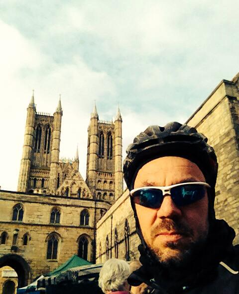 Me at Lincoln Cathedral